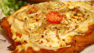 milanesa queso cebolla